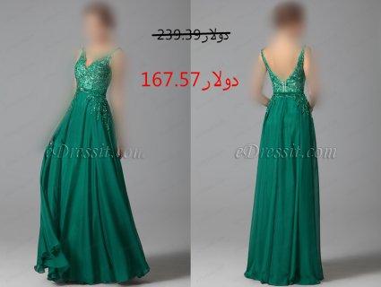 30%خصم فستان أخضر