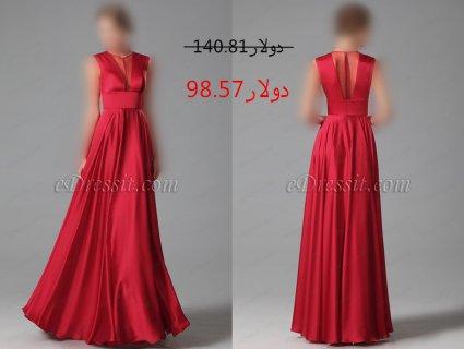 خصم30% فستان السهرة الأحمر