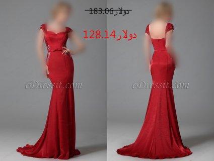 30%خصم فستان أحمر شيك للبيع
