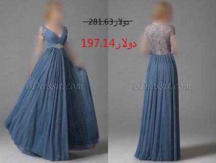 30%خصم فستان السهرة الفاخم بالخرزات