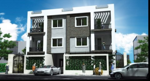 شقة للبيع بموقع راقى بالتجمع الخامس 254م بأقل مقدم وبالتقسيط على