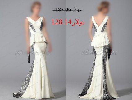 30%خصم فستان السهرة الأنيق للبيع