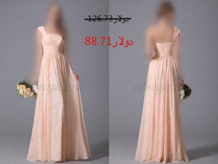 30%خصم فستان وصيفة الشرف الوردي