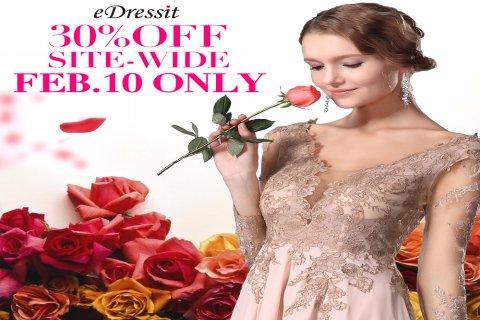 في 2015.02.10 ، كل فستان خصم 30%
