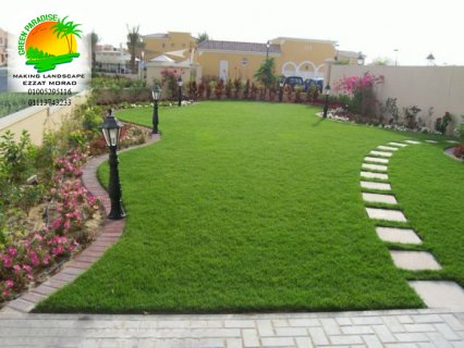 زراعة حدائق بنباتات الزينة وصيانة الحدائق والفيلات والكومبوندات