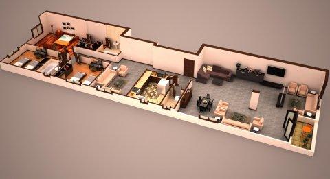 شقة بموقع متميز بالتجمع الخامس 254م بأقل مقدم وبالتقسيط على 48 ش