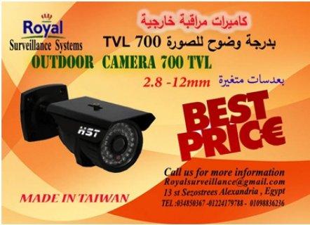 كاميرات مراقبةخارجيةصناعة تايوانية700TVL  بعدسات متغيرة