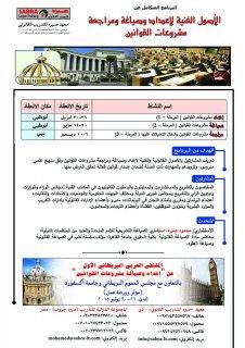 الأصول الفنية لإعداد مشروعات القوانين