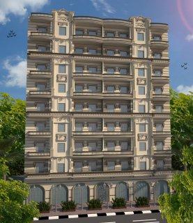 شقه للبيع ببرج ريماس بجوار برج النيل بعد المسشفى العام