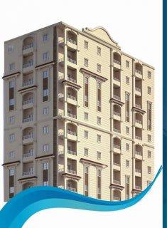 شقة للبيع 90 م بميامي الجديده بمقدم 39000 والباقي علي 42 شهر بدو