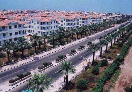 شقة بالمستشارين بالجربى ترى شارع بورسعيد الرئيسى براس البر