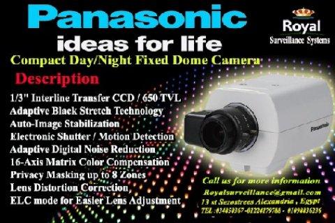 أحدث كاميرات مراقبة  Panasonic بالاسكندرية