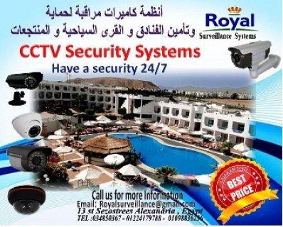 كاميرات مراقبة خاصة لحماية وتأمين الفنادق والقرى السياحية و المن