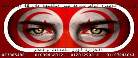 تأشيرة تونس سياحة لمدة شهر استلمها فى 30 يوم فقط بتوافر شروط بسي