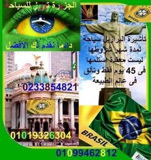 تأشيرة البرازيل سياحة لمدة شهر نسهل لك أجراءاتها بقدر الامكان فى