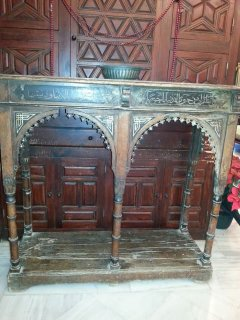 Stunning Console with Mirror (over 100 years old)