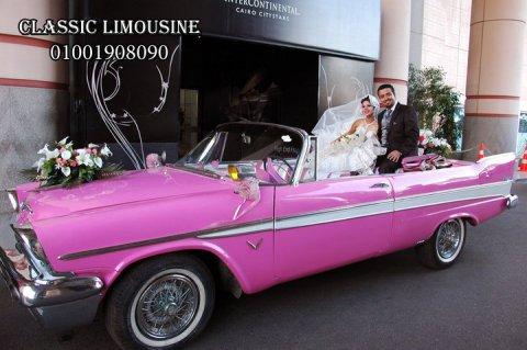 سيارة كابورليه للتأجير فى زفاف العروسين