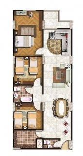 لهواة الرقى و التميز امتلك شقة 135م امامية ببرج راقى بعزبة النخل
