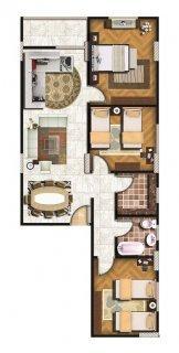 شقة 113م امامية بحرية ببرج راقى بعزبة النخل