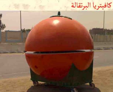 كفتريا برتقالية فيبرجلاس   ....