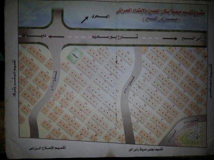 قطعة ارض ناصية على ثلاث شوارع بتقسيم المعلمين براس البر