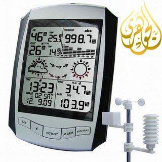 جهاز قياس الطقس اللاسلكى المزود بخدمة الواى فاى وعرض ساعة