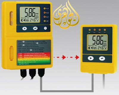 شاشة عرض(مراقب) ووحدة التحكم فى درجة حرارة ثانى أكسيد الكربون (و