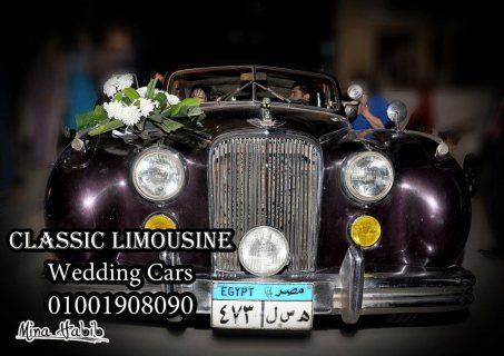 سيارة الزفاف للايجار المبهرة