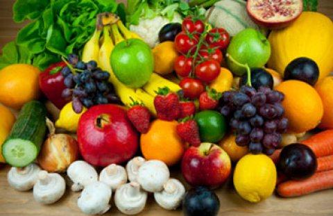 المانجو و الجوافة و البرتقال و اليوسفى والفراولة