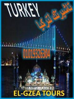 تأشيرتك لتركيا سياحة لمدة شهر صلاحية 6 شهور متعددة السفريات