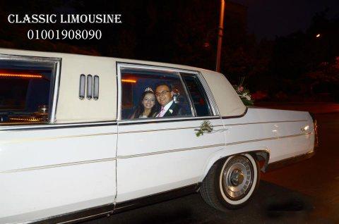 سيارات الليموزين الاسترتش للزفاف العروسين