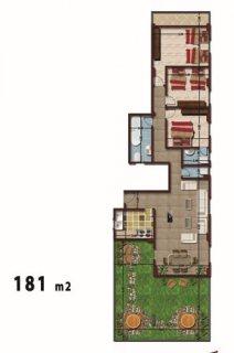 شقة رووف للبيع بمدينة الشروق مساحة 181م مساحة فاضية 65م استلام ف
