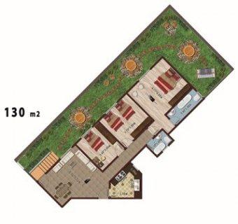 شقة للبيع بمدينة الشروق 130م ارضى بحديقة خاصة 78م مقدم 83,000ج