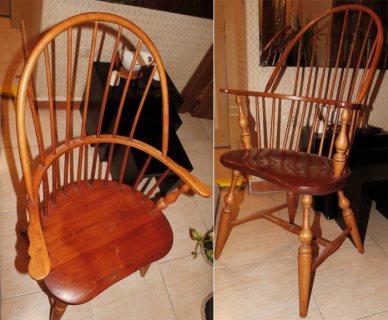 كرسي خشب صناعة أمريكي تصميم راقي جدا بحالة ممتازة