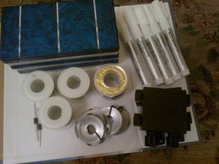 Solar Cell Kit 3x6-6x6in/ all accessories/ Solar Charge Controll