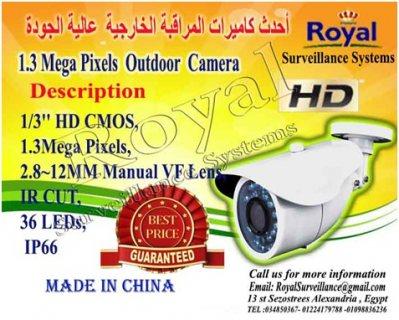 أحدث كاميرات المراقبة الخارجية  HD  1.3 MBبعدسات متغيرة