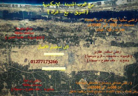 فيلات  برج العرب الجديدة 450متر على الرئيسى
