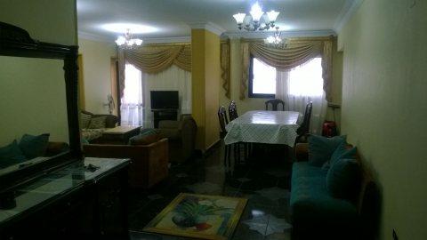 شقة مفروشة بموقع حيوى بمكرم عبيد للايجارر
