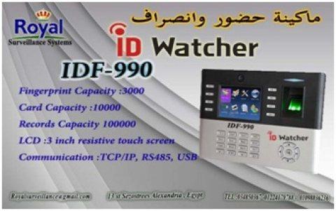 اجهزة حضور والانصراف ماركة ID WATCHER  موديل IDF 990