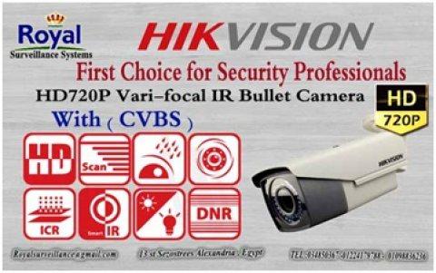 كاميرات مراقبة خارجية WITH (CVBS)   HIKVISIONبعدسات متغيرة