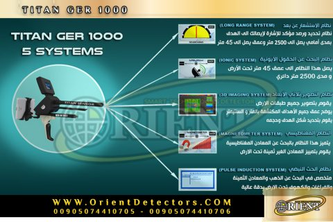 جهاز كشف الذهب والمعادن تيتان جير 1000 | TITAN GER 1000