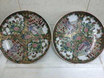 اطباق اثريه من البورسلين المرسومه باليد يرجع الى اكثر من200 عام