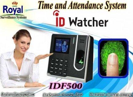 أجهزة الحضور والانصراف ماركة ID WATCHER موديل IDF 500