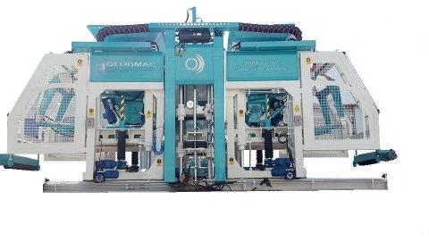 ماكينة طوب أسمنتي و أنترلوك KB25 تصنيع غلوب ماك التركية