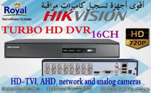 جهاز تسجيل كاميرات مراقبة عالية الجودة  16ch 720P