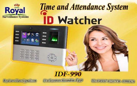 ماكينة حضور والانصراف ماركة ID WATCHER  موديل IDF 990