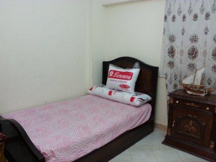 شقة مفروشة 200م فاخرة للايجار شارع مكرم عبيد امام السراج مول