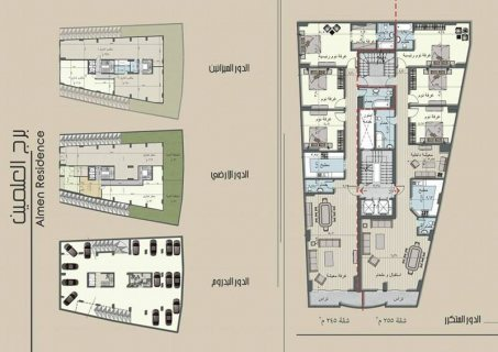 شقة للبيع بعمارة حديثة في المهندسين بالتقسيط لاطول فترة ممكنة