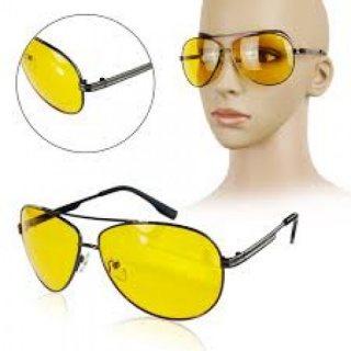 نظارة السواقة اللييلية الزجاج