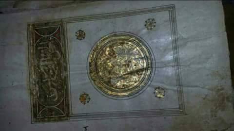مخطوط جزء من القرآن الكريم مكتوب بخط اليد ومطعم بماء الذهب